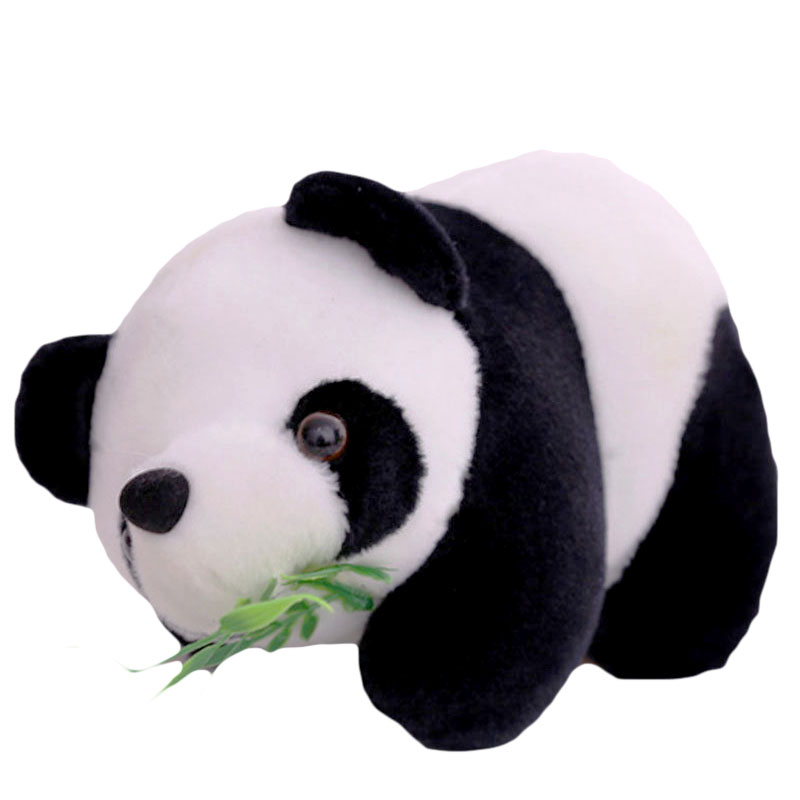 Children's Toy 16cm Lovely Cute Stuffed Kid Animal Soft Plush Panda With Bamboo Kids Present Doll Toy Birthday Christmas Gift