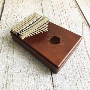 Image 4 - Новинка, калимба с 17 клавишами, пианино с большими пальцами из массива африканского дерева, Sanza Mbira Calimba, игры с гитарой, деревянные музыкальные инструменты