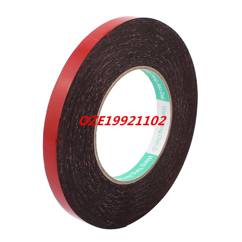 12mm x 1mm Single Sided Self Adhesive Shockproof Sponge Foam Tape 10M Red 2pcs 2 5x 1cm single sided self adhesive shockproof sponge foam tape 2m length