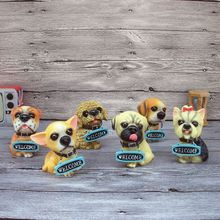 Hot Sales! Home Decoration Resin Crafts Welcome Dogs Figurines Craft Ornaments Lovely Dogs