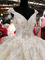 Wedding Dress 2018 The High End Sexy V Neck Luxury Lace Embroidery Court Train Ball Gown