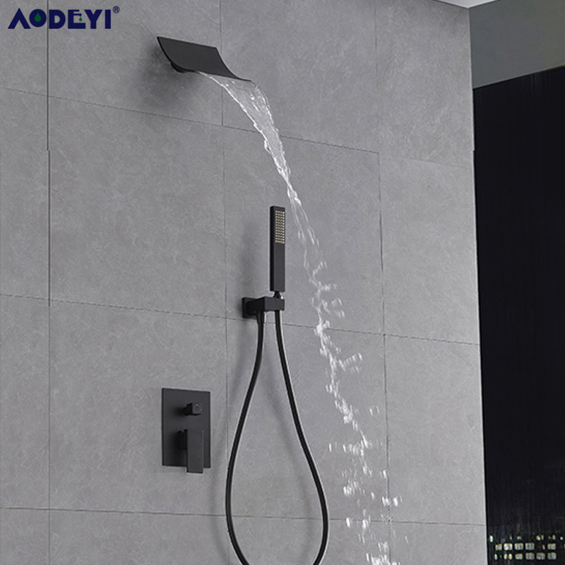 Bathroom Faucet Wall Mounted Rainfall