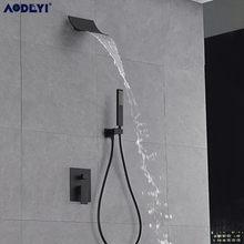 Mosiądz czarny zestaw prysznicowy bateria do łazienki naścienny zestaw prysznicowy z deszczownicą ręczny zestaw natryskowy