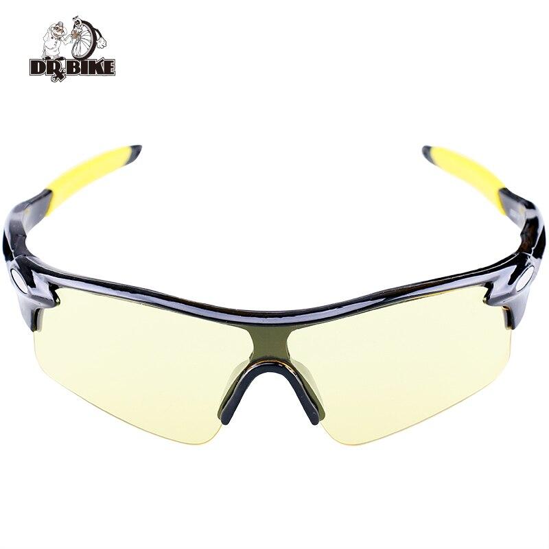 Drbike Men & Women Cycling Glasses Night Eyewear Outdoor Sunglass Highten Light Riding Protection Bicycle Goggles