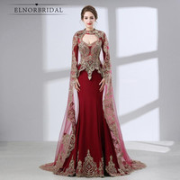 Бордовый Русалка Мать невесты платья для женщин 2018 Арабский Вечерние платья Vestido De Madrinha De Casamento свадебное платье для гостей
