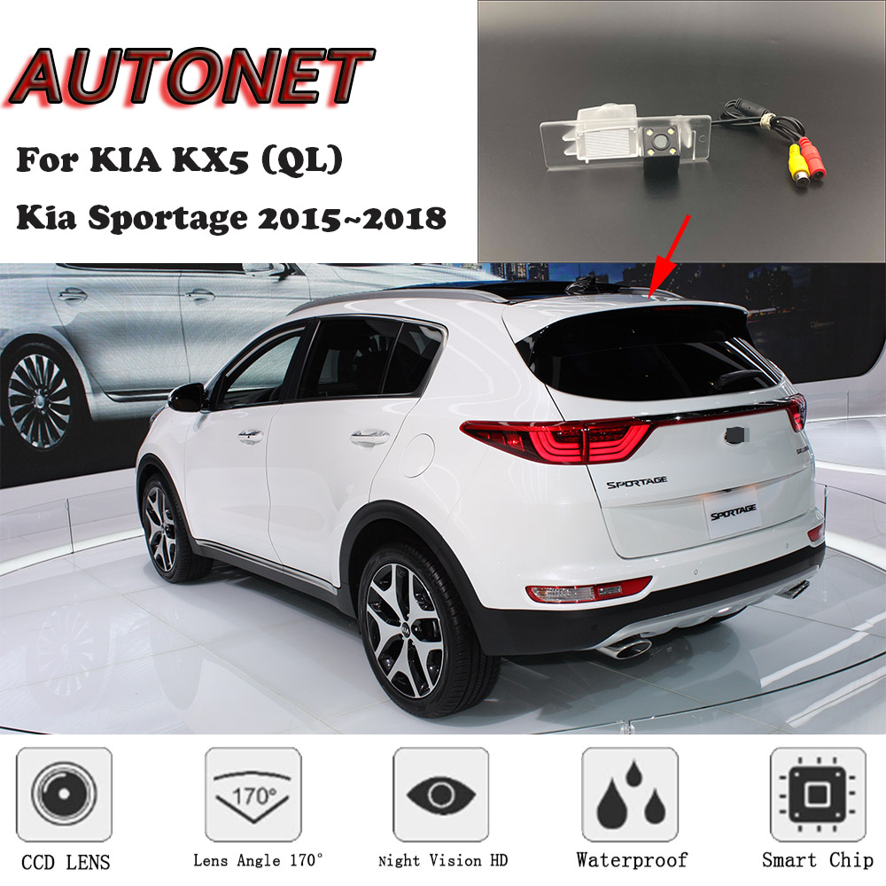 AUTONET HD Night Vision Backup Rear View Camera For KIA KX5 (QL) Kia Sportage 2015~2018 CCD/ License Plate Camera