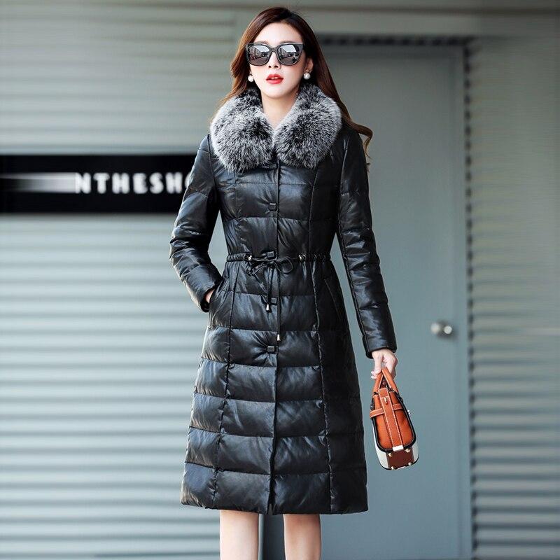 Pelz reale der Wintermantel Frauen M Fox d 5xl Ok0wn8P