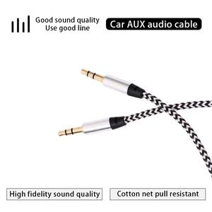 Image 5 - Aux כבל 1M שקע 3.5mm אודיו כבל 3.5mm רמקול כבל זכר לזכר רכב Aux כבל עבור JBL אוזניות iphone Samsung AUX כבל