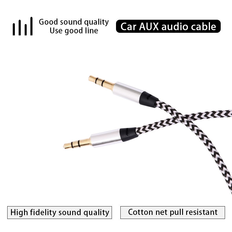 Image 5 - Aux Cable 1M Jack 3.5mm Audio Cable 3.5mm Speaker Cable Male to Male Car Aux Cord for JBL Headphone iphone Samsung AUX Cord-in Cables, Adapters & Sockets from Automobiles & Motorcycles