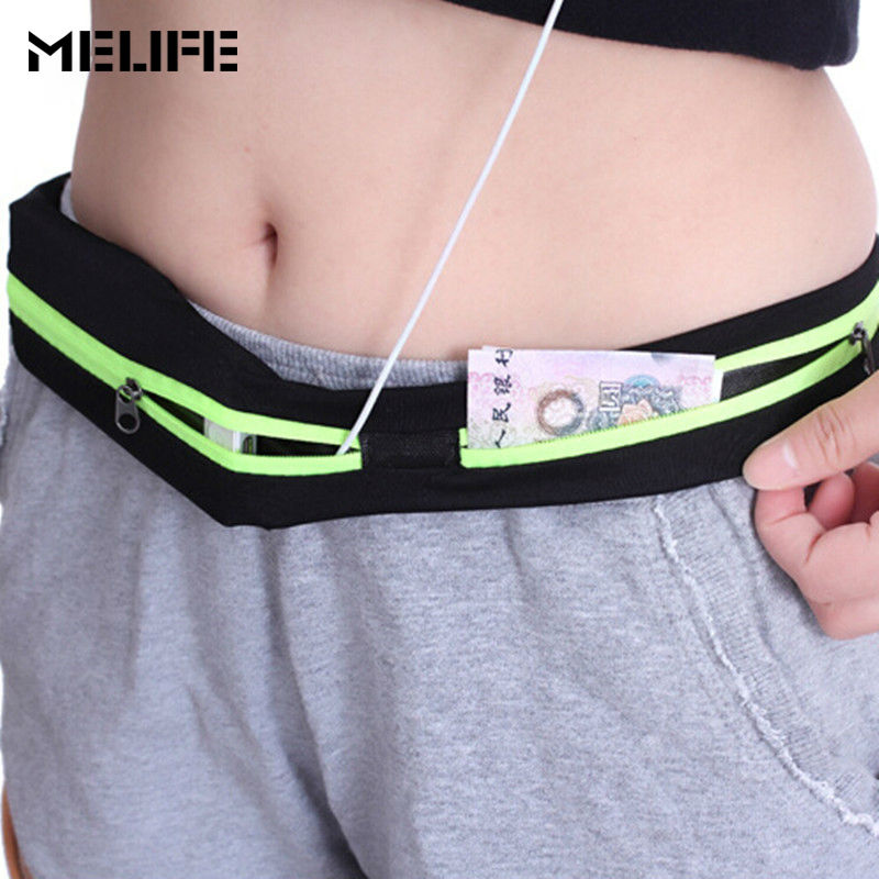 MELIFE Nylon Waist Pack Men Women Fashion Multifunction Fanny Pack Bum Bags Hip Money Belt Travel For Mobile Phone Bag Unisex