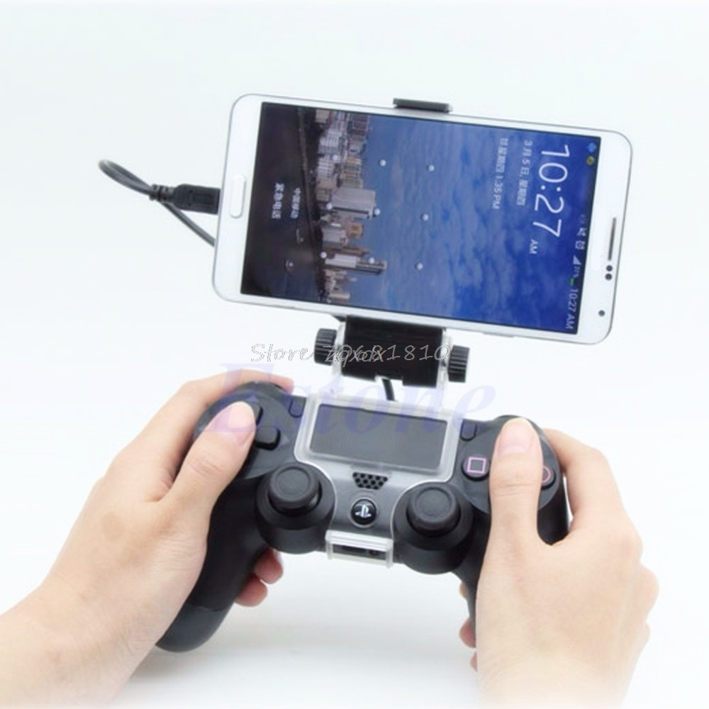 For PlayStation PS4 Game Controller Smart Mobile Phone Clip Clamp Mount Holder Z09 Drop Ship