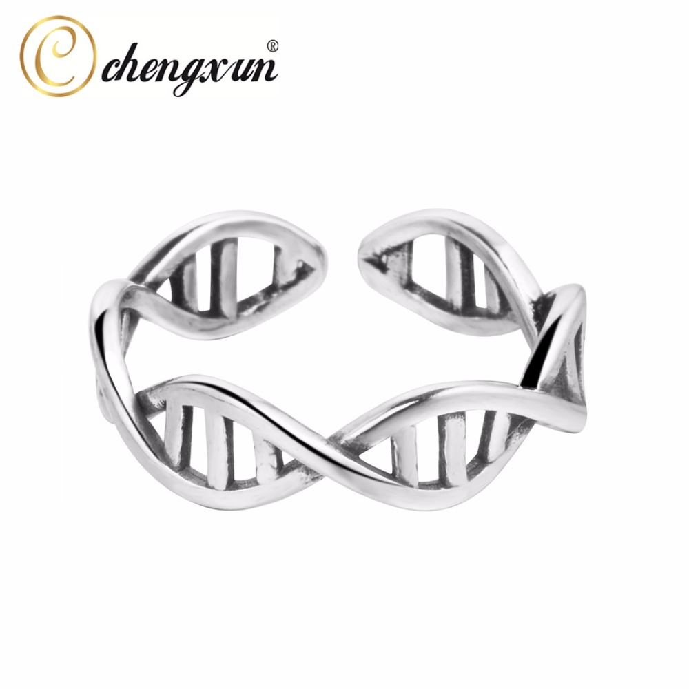CHENGXUN 925 Sterling Silver Ring Celtic Infinity Criss Cross Knot Finger Ring Unisex Men Jewelry Open Adjustable ...