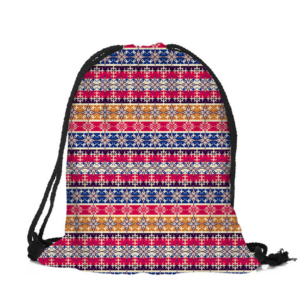 7c936d94a2bc Xiniu Best Quality Women Drawstring Backpacks Flower Printed Backpack  mochila feminina Female Pouch Casual Bag Travel School Bag-in Backpacks  from Luggage ...