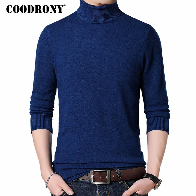 COODRONY Mens Sweaters 2018 Autumn Winter Thick Warm Cashmere Wool Sweater Men Turtleneck Pullover Men Slim Fit Jumper Pull 8225