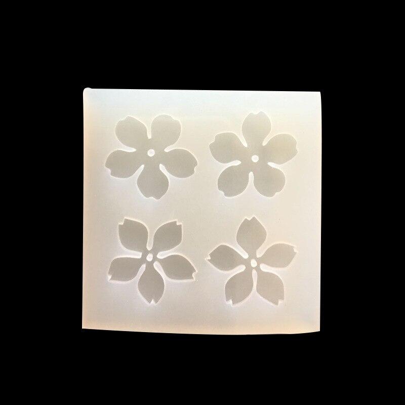 1pcs Cake Tools Mini Leaves Cherry Blossom Silicone Pendant Mold Resin Handmade Craft Making Tool