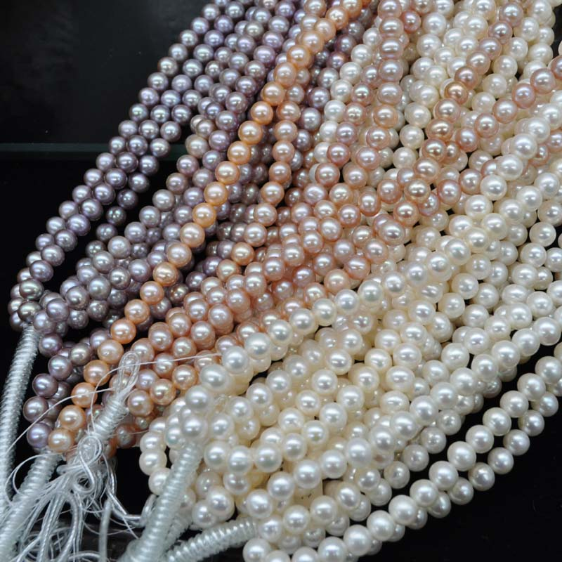 AAA wholesale near round potato freshwater pearl 7 5 8 5 8 9mm 1 string