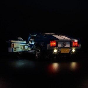 Image 3 - ไฟ LED (รุ่นคลาสสิก) สำหรับ 10265 รถ Ford Mustang Race บล็อกของเล่นของขวัญ
