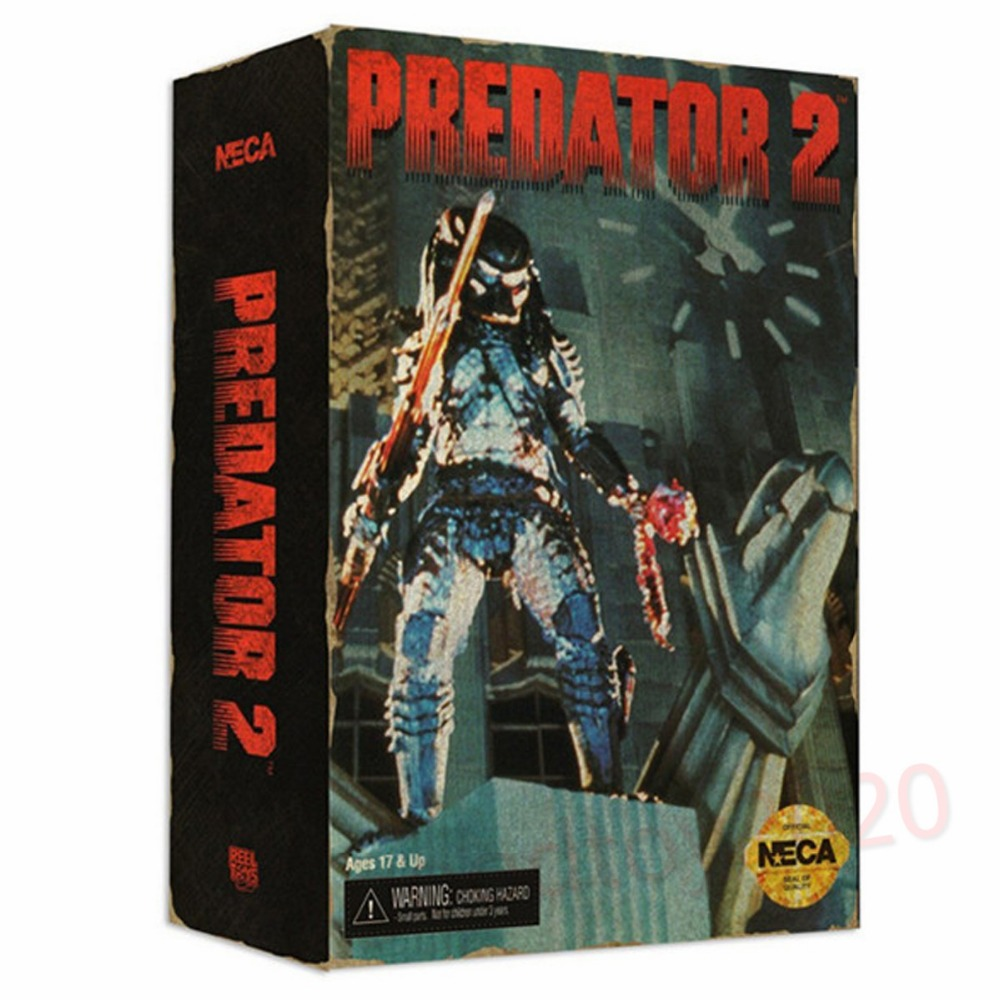 NECA Predator 2 8 City Hunter Action Figure Collectible Toys NE011027 neca planet of the apes gorilla soldier pvc action figure collectible toy 8 20cm
