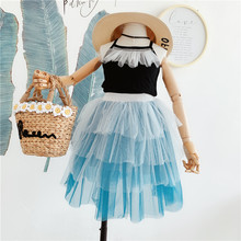Teen Girls Boutique Clothing Set Fashion Summer Party Tutu Dresses For Kids Girl Baby Clothes Korean Children Suits Shorts Wear 5293 bohemia beading tutu princess kid dresses for baby girls winter children clothes wholesale baby kids boutique clothing lots