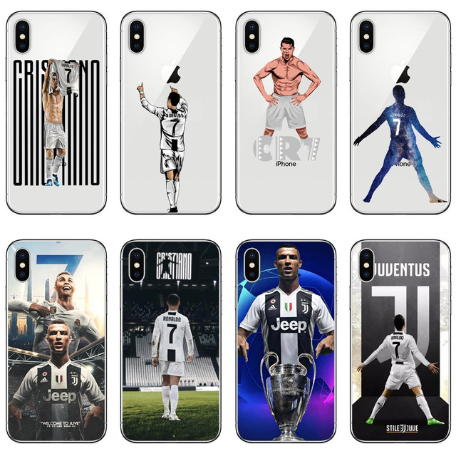 Juventus cristiano ronaldo CR7 Football Sport Star silicone Phone Cases  Cover for iphone 5 5S SE 6 6S Plus 7 7Plus 8 8 Plus X d90183b7a