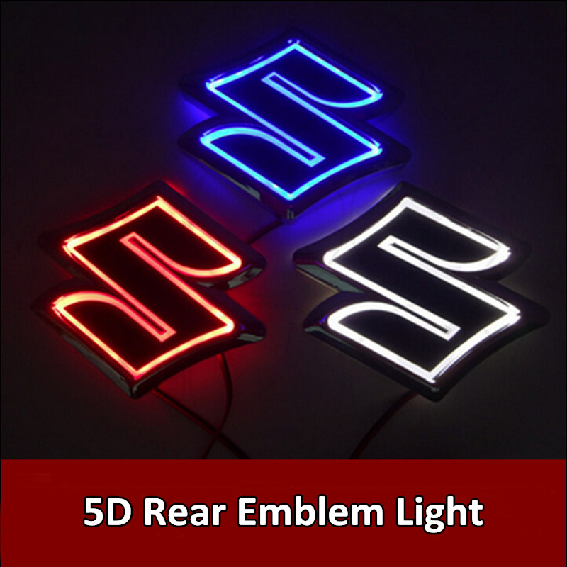 Car Styling 1pcs 5D LED Rear Emblem Light Car Logo Bulb for VW Volkswagen/Nissan/Mercedes/Suzuki 1pcs 4d led rear emblem car logo light for ford focus mondeo car led badge bulb car styling