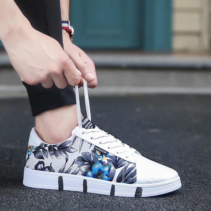 LAISUMK wiosna nowe oddychające tenisówki mężczyźni buty w stylu casual tenis masculino adulto męskie sznurowane modne buty na niskim obcasie