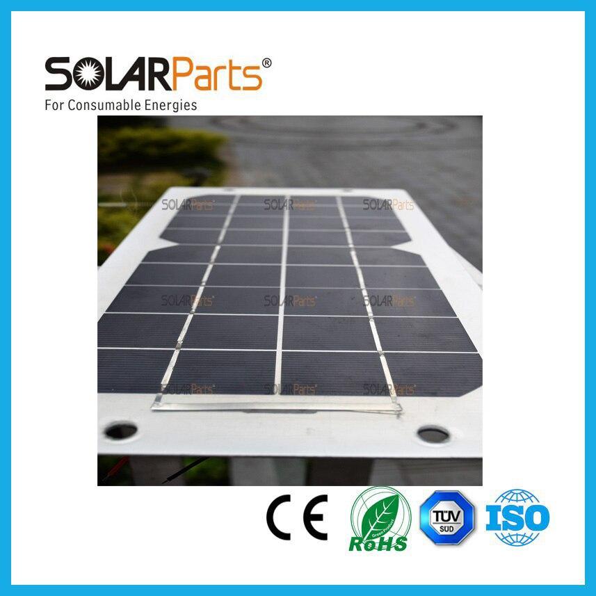 ФОТО 20W long lifetime durable semi- flexible aluminum back solar panel solar module for RV/Boat/Golf cart/Marine/Yachts/Home use