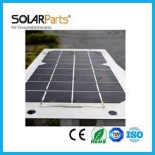 20W long lifetime durable semi flexible aluminum back solar panel solar module for RV Boat Golf