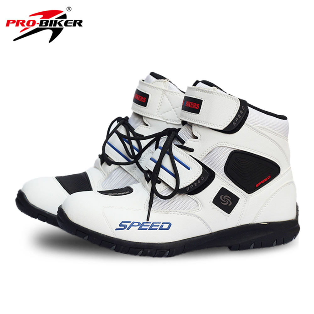 PRO-BIKER Motorcycle Boots Moto Shoes Motorcycle Shoes Riding Racing PU Leather Motocross Boots Protective Gear for Men Women scoyco motorcycle riding knee protector extreme sports knee pads bycle cycling bike racing tactal skate protective ear