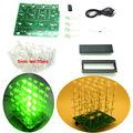 Verde DIY KIT 3d4X4X4 cubeeds Luz LED Eletrônico Kit DIY
