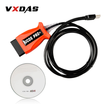 VXDAS KKL UCDS Pro + OBD2 Scanner/V1.26.008 Remplacer Code Lecteur VCM II UCDS Auto/Voiture Outil De Diagnostic pour Ford Adaptateur OBD Câbles