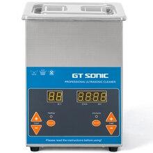 GTSONIC цифровой ультразвуковой очиститель 2L 50 Вт 40 кГц металлическая корзина для мытья ювелирных изделий часы стоматологический PCB очиститель CD ванны ожерелья