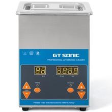GTSONIC דיגיטלי אולטרסאונד 2L 50W 40kHz מתכת סל כביסה תכשיטי שעונים שיניים PCB CD מנקה אמבט שרשראות