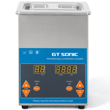 GTSONIC Digital Ultrasonic Cleaner 2L 50W 40kHz Metal Basket Washing Jewelry Watches Dental PCB CD Cleaner Bath Necklaces