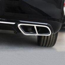 Нержавеющая сталь автомобилей хвост горло Декор рамки выхлопных труб накладка лайнер аксессуары для Volvo S90