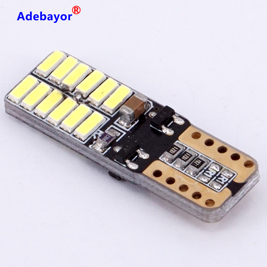 100 XCar Auto LED T10 194 W5W Canbus 24 SMD 4014  LED Light Bulb No error led parking car styling  lamps car accessories 12V 24v