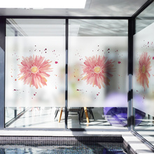 Customized Stained Static Cling Window Film Frosted Opaque Privacy Glass Sticker Home Decor Digital print BLT612 Fireworks
