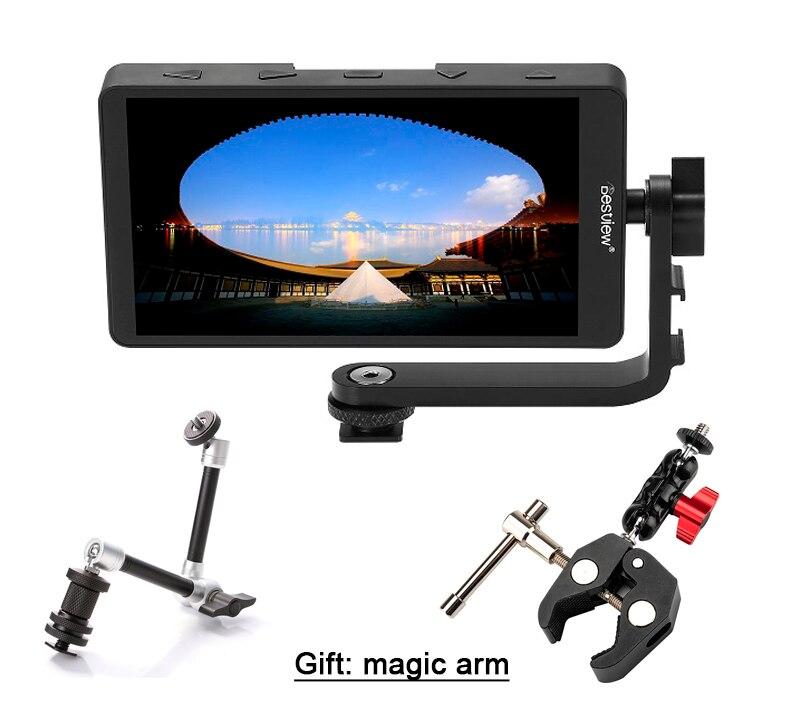 Moniteur HD 4 K HDMI pour Canon Nikon Sony Fujifilm cardan + batterie il peut alimenter pour reflex numérique ou appareil photo sans miroir comme Feelworld