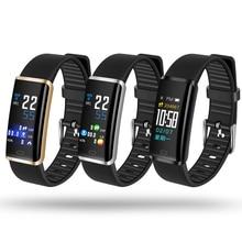 Good Bracelet Exercise Tracker Bluetooth USB Charging Coronary heart Price Monitor Sleep Pedometer Blood Strain IP67 Waterproof Watch