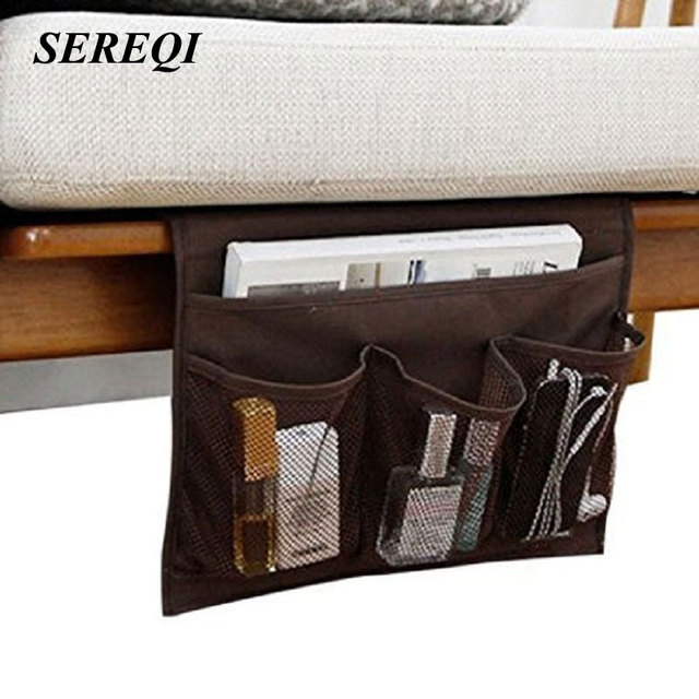 Sereqi Bedside Storage Bag Organizer Sofa Table Cabinet For Tablet Magazine Phone