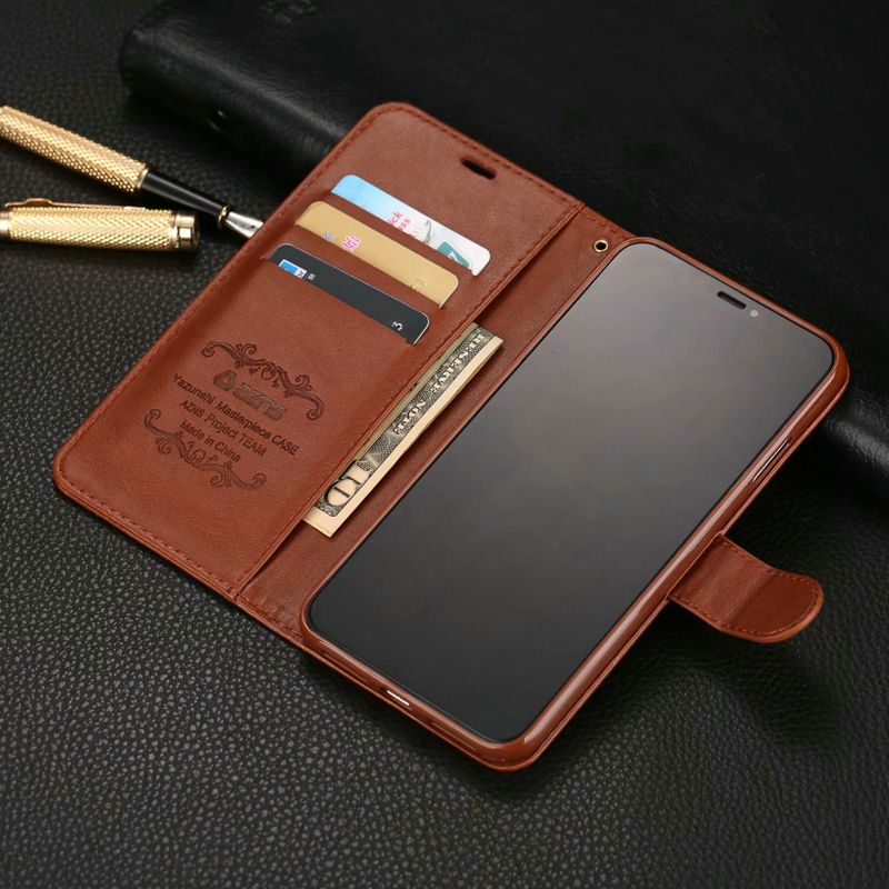 Luxury Leather Flip Case For Coque Iphone 11 Pro X Xr Xs Max 6 6s 7 P 8 Plus 5 S E Funda Etui Protective Phone Shell Cover Bag