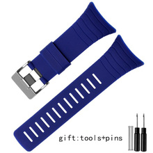 6a16c36e2ee Para Suunto SUUNTO Core pulseira pulseira de silicone de borracha TPU ALU  preto À Prova D  Água esportes ao ar livre correias do.
