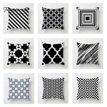 Fuwatacchi Geometric Cushion Cover Black White  Soft Throw Pillow Decorative Sofa Case Pillowcase