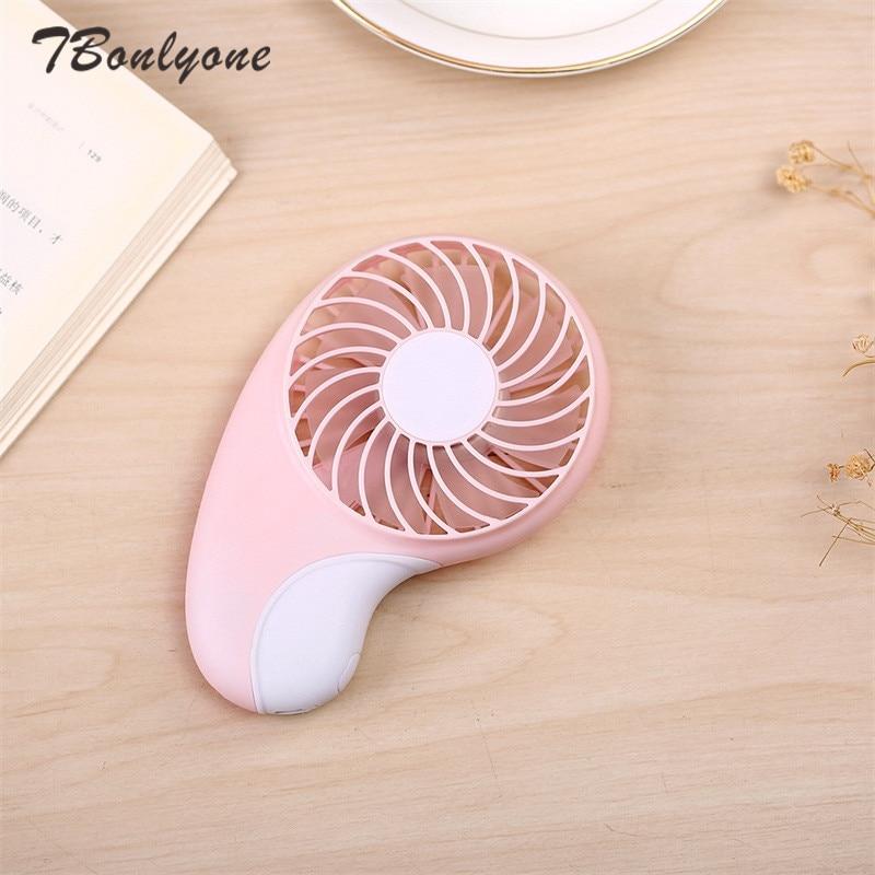 TBonlyone 800mAh 2 Speeds Pocket Fan for Outdoor Travel Noiseless Portable Fan Baby Fan Battery Rechargeable Fan USB Mini Fan