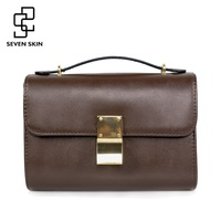 SEVEN SKIN Brand 2017 Solid Leather Women Messenger Bag Female High Quality Shoulder Bags Ladies Crossbody