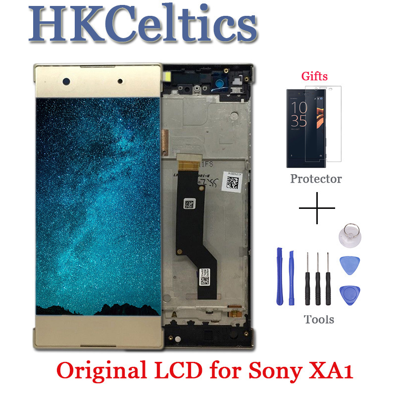 5.0 inch Touch Screen For <font><b>SONY</b></font> Xperia XA1 XA 1 G3116 G3121 G3123 G3125 <font><b>G3112</b></font> <font><b>LCD</b></font> Display Digitizer Assembly with Frame+free tool image