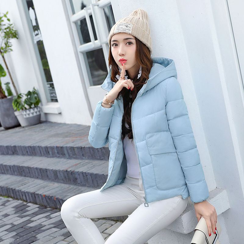 2019 Fashion Hooded Winter Jacket Women Female Padded Jacket Jaqueta Feminina Inverno Short Outerwear Autumn Coat   Parka   C3702