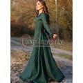 Vintage Taditional Medieval  Central Europe Party Dress Adult Women Cosplay Costume Custom Made D1029