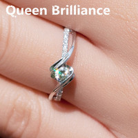 FREESHIPPING CPP 0 2 TOTAL CARAT 100 NATURAL DIAMOND 14K 585 WHITE GOLD ENGAGEMENT RING FOR