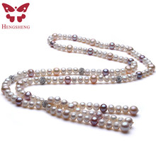77e07c6f6afe Comercio al por mayor precio asombroso 7-12mm agua dulce collar de perlas  irregulares